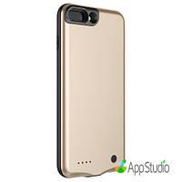 Чехол- батарея Baseus Geshion Backpack Power Bank 2500MAH For iphone7 Plus Gold