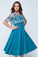 Платье   Аврора  изумрудное Rica Mare