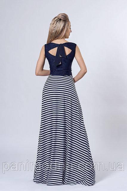"""Яркое комбинированное платье с подвеской - """"Моретти"""" код 513"""