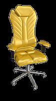 Кресло Monarch (Монарх) экокожа золотой (ТМ Kulik System)