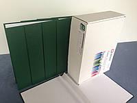 """Папка для переплета """"Лен"""", цвет зеленый, толщина корешка 25 мм (книжный вариант переплета)"""