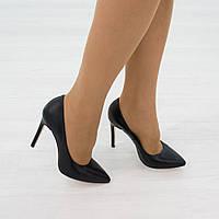 Туфли из натуральной кожи черный