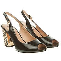 Босоножки женские Emeler (черные, на каблуке, удобные, стильные, модные)