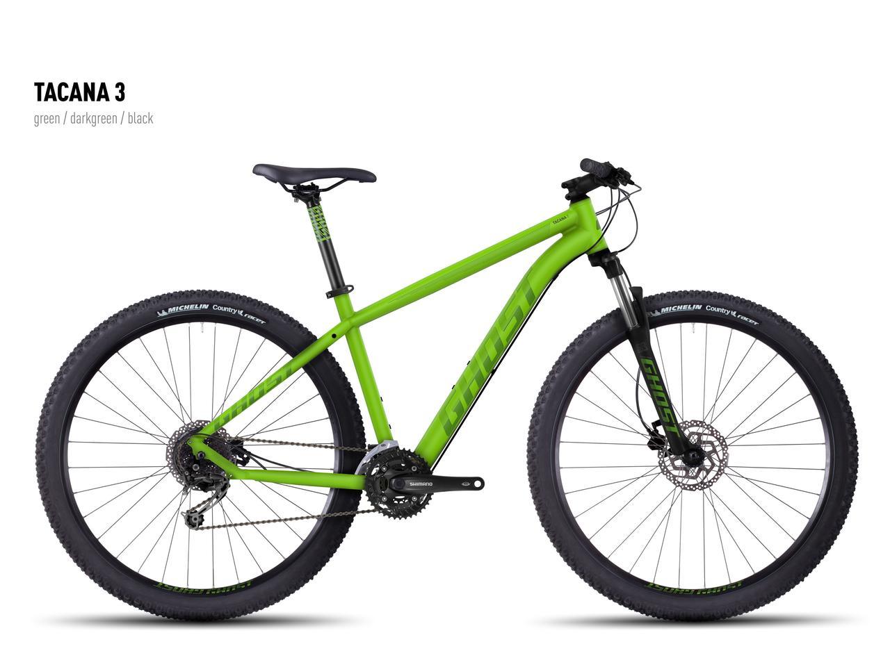 """Велосипед Ghost 29"""" Tacana3 2016 рамаL зеленый / темно-зеленый / черный 16TA4139"""