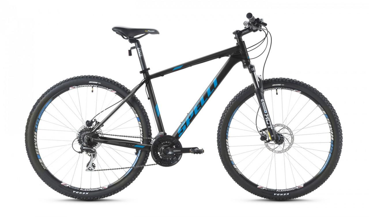 """Велосипед SPELLI 26"""" SX-5000 2016 рама 19"""" чорно/блакитний/матовий SP000083"""