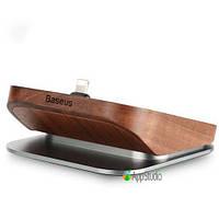 Док- станция Baseus Duowood Desk Charging Station Black walnut color