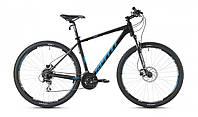"""Велосипед 27,5"""" SX-5000 650B 2016 рама 19"""" чорно/блакитний/матовий (SP000086) SPELLI"""