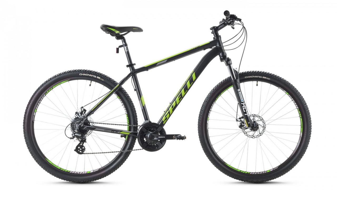 """Велосипед SPELLI 29"""" SX-3500 2016 рама 19"""" чорно/зелений SP000093"""