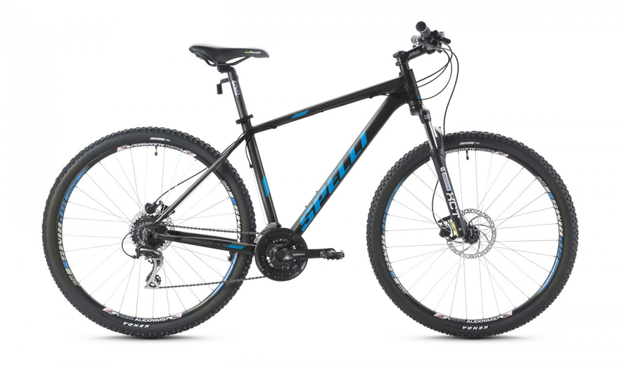 """Велосипед SPELLI 29"""" SX-5000 2016 рама 19"""" чорно/блакитний/матовий SP000091"""
