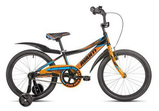 "Велосипед AVANTI 20"" LION 2018 coaster чорний/помаранчевий AV000134"
