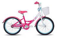 """Велосипед 20"""" Sandy 2017 білий/малиновий/рожевий/лак (SKD-68-95) Pride"""