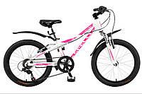 """Велосипед SPELLI 20"""" VIOLA рама 11"""" білий/матовий SP00049"""