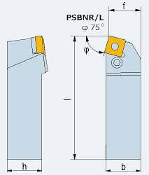 Державка PSBNR 4040 S25