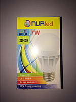 LED ЛЕД светодиодная лампа NURled 7Вт 7W 6500К