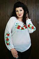 Женская вышиванка с длинным рукавом Мак-Ромашка 70251