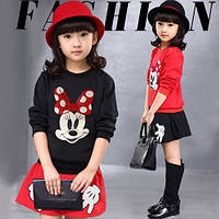 Детские Летние - модные костюмы mickey mouse, на девочек. Новейшая коллекция 2017г