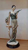 Статуэтка Florence Дама с веером Фарфор Италия дизайнер Джузеппе Армани Ручная Работа