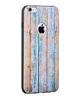 Чехол- накладка HOCO Element Series wood Grain iPhone 6/6s Weatherworn wood