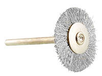 Щетка концевая стальная радиальная, диаметр 22 мм. для дрели, гравера, бор машинки.