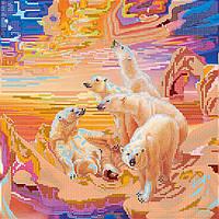 Схема для вышивки бисером на натуральном художественном холсте Закаты Заполярья