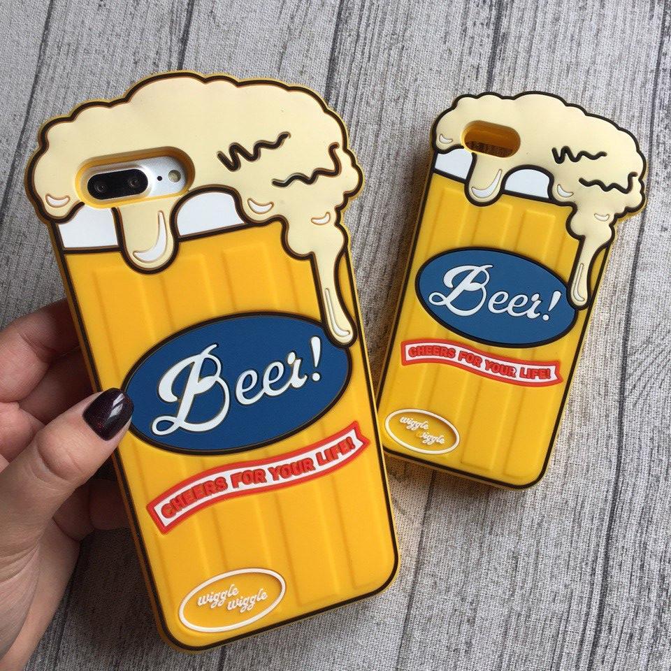 Силиконовый чехол бокал пива для iPhone 8/8 Plus