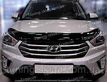 Дефлектор Хендай Крета (мухобійка на капот Hyundai Creta)