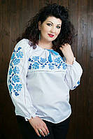Красивая женская вышиванка с длинным рукавом 70351