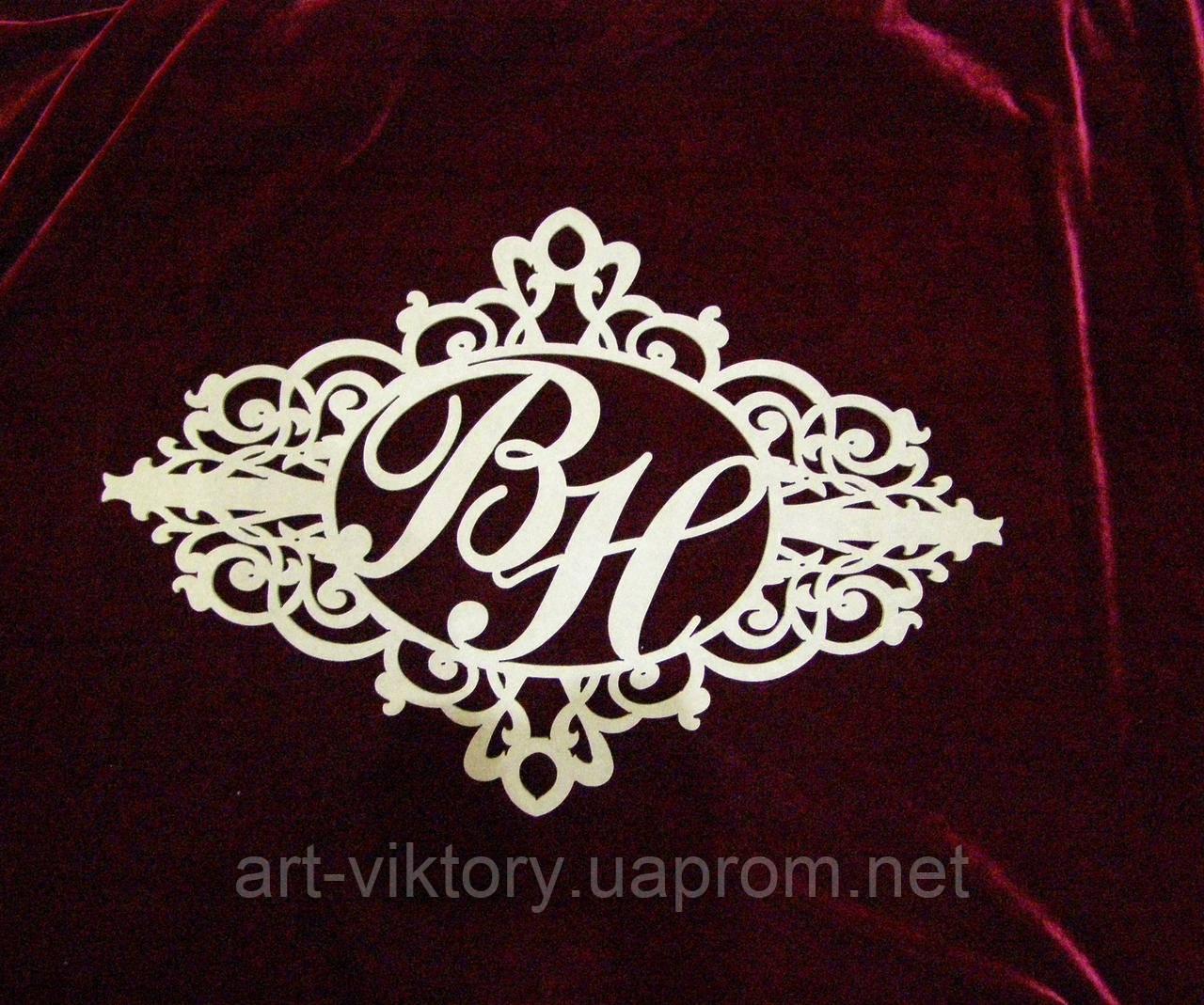 Герб с буквами (60 х 40 см), декор