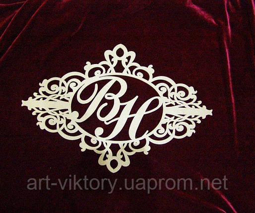 Герб с буквами (60 х 40 см), декор, фото 2