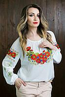 Очень красивая женская вышиванка с длинным рукавом 70352