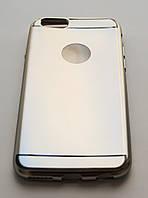 Чехол на Айфон 6/6s Glossy matt имитация металла ТПУ Серебро  , фото 1