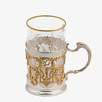 Серебряная чайная чашка подстаканник