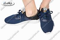 Женские кроссовки синие (Код: 204)