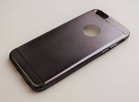 Чехол на Айфон 6/6s Glossy matt имитация металла ТПУ Черный  , фото 1
