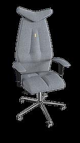 Кресло Jet (Джет) ткань Азур серебряный (ТМ Kulik System)