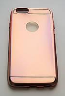 Чехол на Айфон 6/6s Glossy matt имитация металла ТПУ Розовое золото