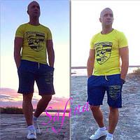 Костюм мужской спортивный с футболкой и шортами