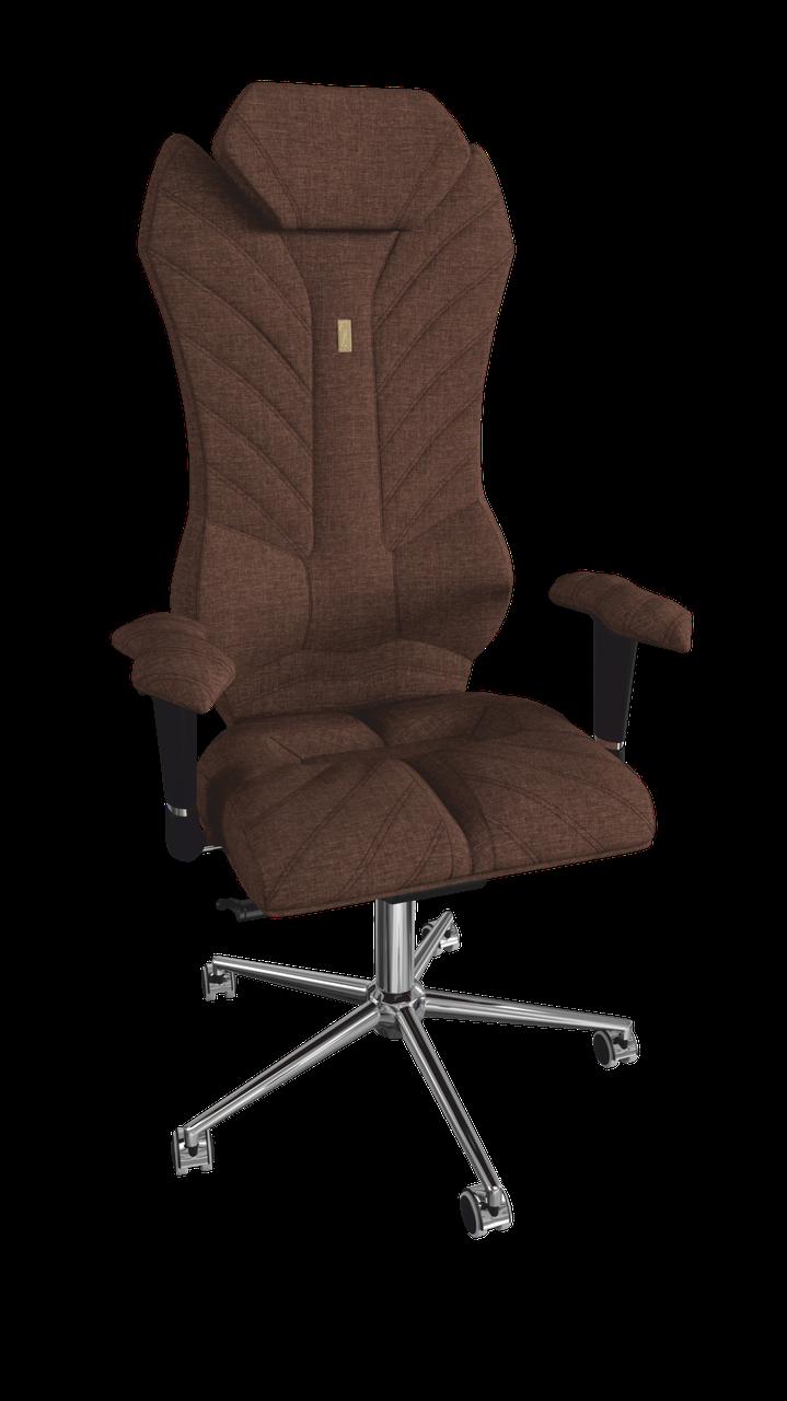 Кресло Monarch (Монарх) ткань Азур шоколад (ТМ Kulik System)