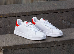Женские кроссовки Adidas Stan Smith Red/Multi топ реплика