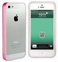TOTU Evque Bumper for iPhone 5 White/Pink