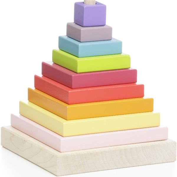 Конструктор Пирамидка деревянная ТМ CUBIKA