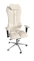 Кресло Monarch (Монарх) экокожа белая (ТМ Kulik System)