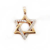 Кулон золотой звезда Давида