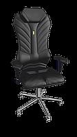 Кресло Monarch (Монарх) экокожа черная (ТМ Kulik System)