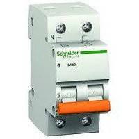 Автоматический выключатель (автомат) ВА63 1П+Н 6A C Schneider Electric Шнайдер Домовой