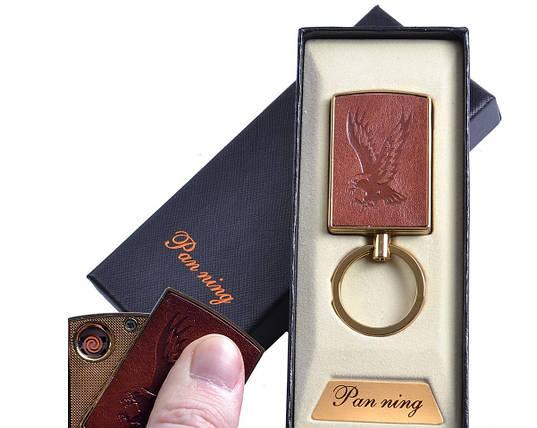 """Спиральная USB зажигалка-брелок """"Орел"""" №4813-4, практичное приобретение, подарочная коробка, фото 2"""