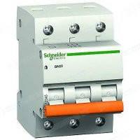 Автоматический выключатель ВА63 3П 50A C Schneider Electric Шнайдер Домовой