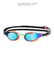 Зеркальные очки для плавания премиум класса Speedo Fastskin 3 Elite (Orange)
