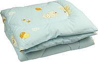 Одеяло детское силиконовое стеганое 140х105 см РУНО (320.02СЛУ_Синий)