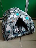 "Спальное место, домик для собак и кошек ""Пирамида 2"" 45х45х42 см"